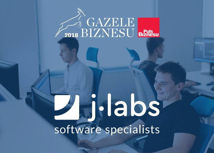 j-labs awarded with 'Gazele Biznesu 2018'